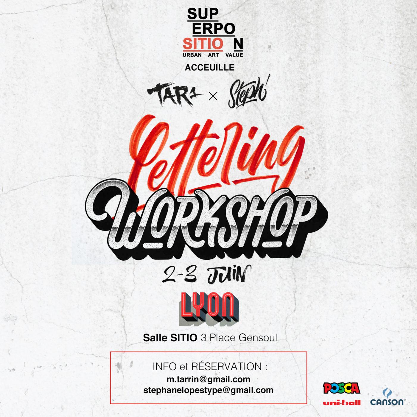 Lettering Workshop • 2 – 3 juin