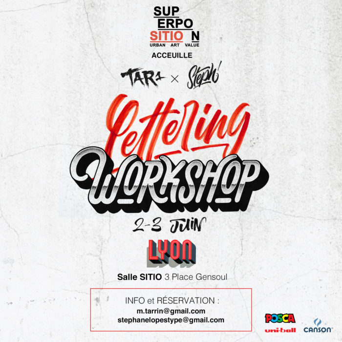 Lettering Workshop • 2 ➡ 3 juin