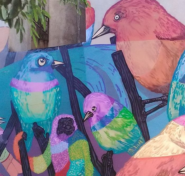 11 street artistes réalisent une fresque géante sur la Presqu'île