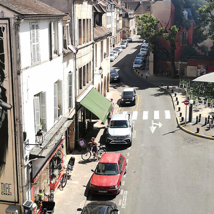 L'artiste Dire 132 au M.U.R de Dijon, une galerie à ciel ouverte